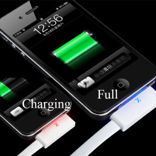 Top Quality 1M Fast Charging Durable Perfume 30Pin Smart LED Light USB Data Sync Charger Cable for iPhone 4 4S 3GS iPad 2 3