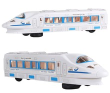 High Speed City Train Locomotive WIth Flashing Lights and Real Sounds Kids Children Bump and Go Electric Toy(China)