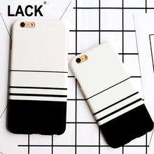 Fashion Cross Stripes Case For iPhone 6 Case For iphone6 6S Plus 6Plus Back Cover Luxury Soft IMD Funda White Black Phone Cases