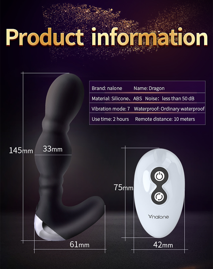 Nalone Wireless Anal Vibrator Sex Toys for Couple Remote Control Prostate Massage Butt Plugs for Men Anal Vibrator Sex Products