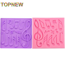 Top new HOT Beautiful And Classics Different Music Note Shape Silicone Fondant Cake Lace Mold Chocolate Mould Bake Ware C3013