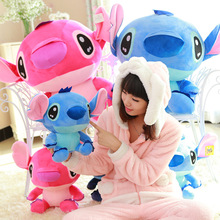 Soft Cute Lilo & Stitch 25CM/35CM Sitting height Stitch Plush Toy Nano doll pp cotton Doll Children's day kids Birthday gift