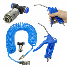 Air Duster Spray Gun with 5m Recoil Hose Truck Dust Blower Clean Nozzle Blow Spray Tool Kit for Car Paint Spray Gun Mayitr(China)