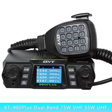 Brand New QYT KT-980Plus Dual Band Quad Display Walkie Talkie For Car Two Way Radio Station With Display Screen Free Shipping(China)