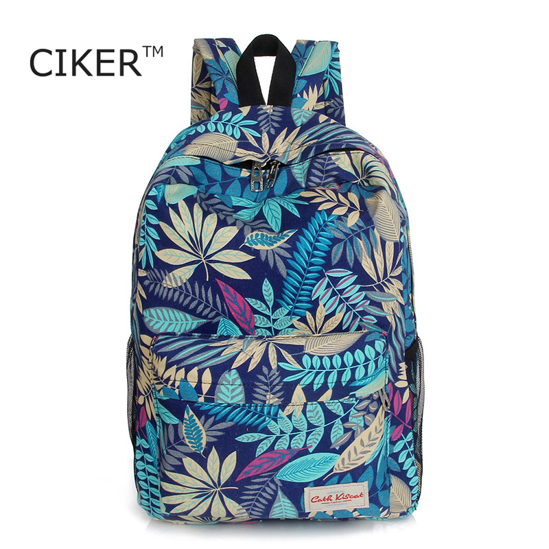 CIKER New nylon backpacks for teenage girls fashion leaves printing backpack women mochila casual shoulder school bag travel bag<br><br>Aliexpress