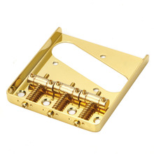 Guitar 3 Saddle Ashtray Bridge For Fender Telecaster Durable Golden Guitar Parts Bridges Musical Instruments