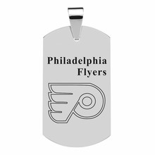 Custom Dog Tag Pendant Necklaces Stainless Steel Pendants NHL Ice Hockey Philadelphia Flyers Team Personalized Dog Tags Jewelry(China)