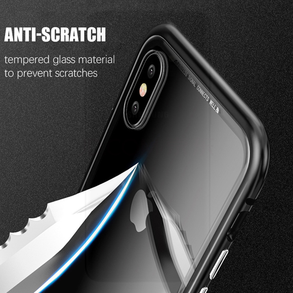 magnetic adsorption metal phone case for iphone 6 6S plus 7 8 plus x xs max xr(11)