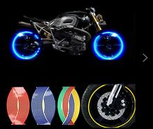 Hot sale 17 inch Motorcycle Car carbon fiber sticker reflective wheel hub Tire rims sticker