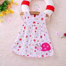 2017 new baby dress cute animal plant baby dress little girl in sleeveless dress casual cotton vest little princess dress