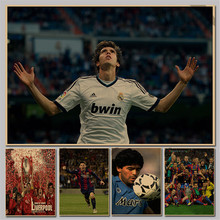 Kaka Sports Poster Soccer Star - Football 2014 World Cup Brazil Kraft Paper Poster Retro Paintings Home Cafe Bar Decor p036
