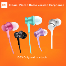 HOT Original Xiaomi Piston 3 Earphones Youth Colorful Edition 3.5mm 3rd Bass Earphone Basic Version Headset with Remote & Mic(China)