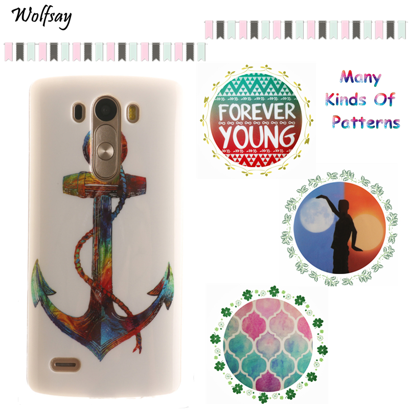 Wolfsay Phone Cover LG G3 Case D855 D850 D851 F400 IMD Painting Design Silicone Plastic Gel Back Phone Case LG G3 Cover