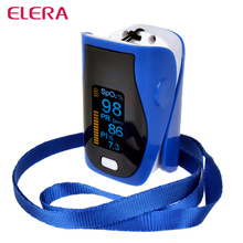 ELERA 10pcs/lot Portable Digital Pulse Oximeter Finger Blood Oxygen Saturometro Monitor SPO2 PR PI Oximetro de Pulso de dedo(China)