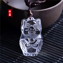 natural white crystal pendant pendant pig cute cartoon Zhaocai transport safety
