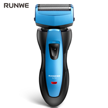 Runwe RS726 Reciprocating Electric Shaver For Men Strong Power Fast Close Shaver Razor 2017 New Arrival Blue Body Design Shaver(China)