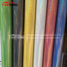 New Arrival 3D Carbon Fiber Sticker Chameleon 3D carbon fiber film Holographic 3D carbon wrapping For car 3D carbon car film