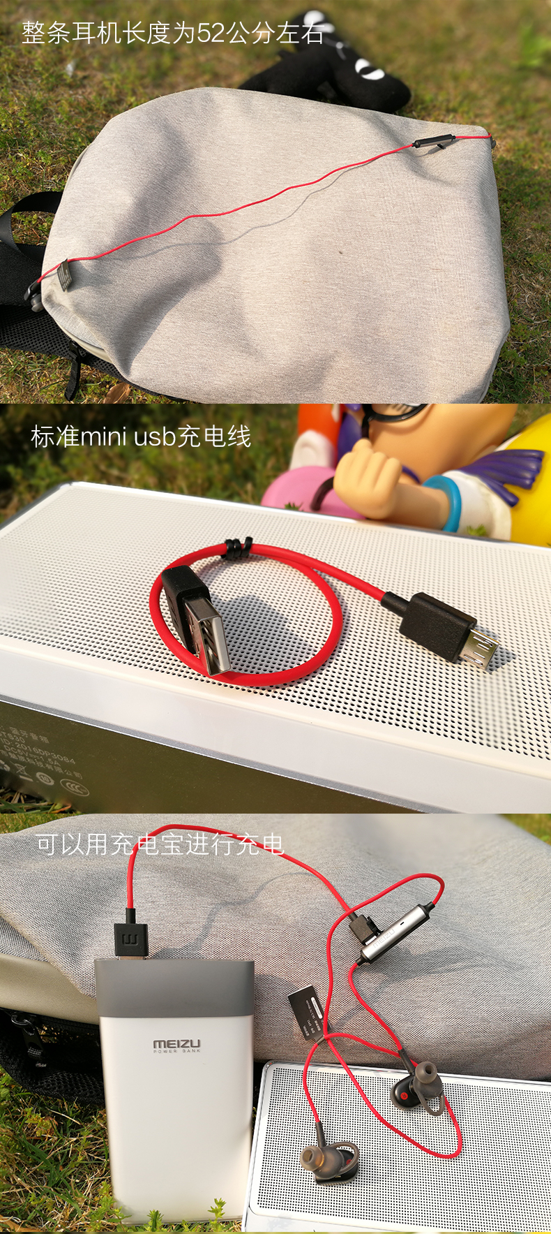 100% Original MEIZU Earphone EP51,In-ear Bluetooth Earphone For Sports Running,Anti-sweat Design,Very Light Weight,Music Control