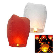 by dhl or ems 5000pcs Multi-Color Paper Chinese Lanterns Fire Sky Fly Candle Lamp for Birthday Wish Party Wedding