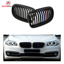 High Quality One Pair Front Matte Black M-color Grille Grilles for BMW E90 08-11 Car Bumper Grille for BMW
