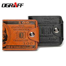 OGRAFF men wallets famous brand card holder creative personality leather wallet designer purses high quality short dollar purse