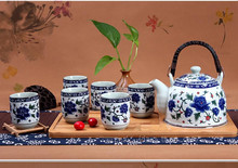 Jingdezhen Ceramic Teapot  blue and white porcelain teapot tea tea  cold water filtration  Household  holiday gifts business gif