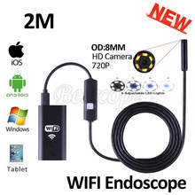 Buy 8mm Lens 2M Iphone IOS WIFI Endoscope Camera HD720P Snake USB Pipe Inspection Borescope Android Phone Tablet PC HD Camera 6LEDS for $19.73 in AliExpress store