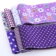 Cotton Strips Fabrics Ribbon Fabric Purple Sets Roll Quilting Patchwork Textile For Sewing Toys Tilda Crafts 7pcs 6x100cm