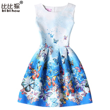 lady styles Girl Dress Summer Kids Vest Dress Girls Sleeveless Dresses Butterfly Print Girl Princess Dresses Party Girl Clothes
