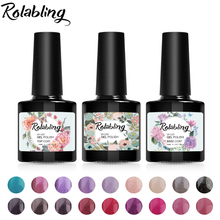 Buy Rolabling Beauty Gel Nail Paint 10ml UV Gel Nail Polish Long Lasting Nail Decoration DIY Professional Gel Varnish 80 Colors for $1.45 in AliExpress store