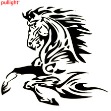 Animal Tattoo Horse Stallion Fashion Vinyl Decal Car Sticker Car Accessories(China)