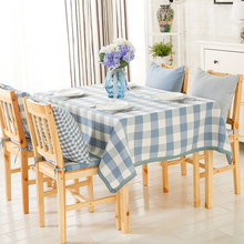 Waterproof cloth small fresh cotton and linen lattice garden coffee table cloth(China)
