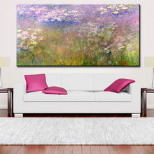 wall Picture oil painting Claude Monet's iconic Water Lilies series never fails to impress painter print wall painting No Framed(China)