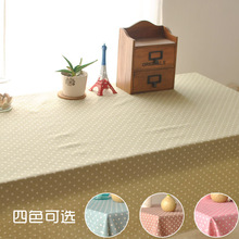 Factory direct fashion small fresh wave point multicolor printing tablecloths dining table runner placemats custom made