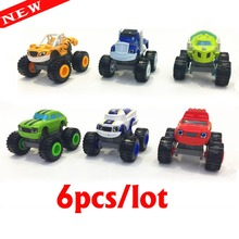 6pcs/set Blaze Cars Monster Machines Transformation Diecasts & Toy Vehicles Model
