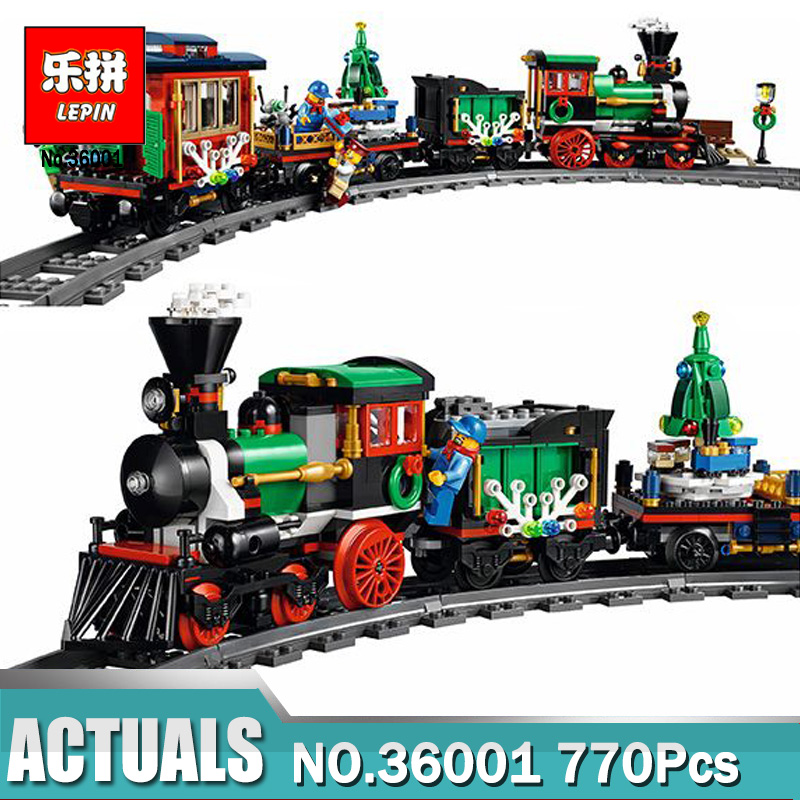 Lepin 36001 Model building kits compatible with legoN 10254 The Christmas Winter Holiday Train 3D blocks model building toy<br>