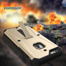 VOONGSON New Arrival Cool Iron Man Tank Armor Dual Phone Case For iPhone 5s SE 6 6s 7 Plus Back Cover With Kickstand Shockproof