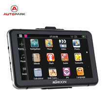 "KKmoon 7"" Vehicle GPS HD Touch Screen Car GPS Navigator 128MB 4GB ROM FM MP3 Video Bluetooth Car Entertainment(China)"