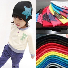 Cute Stars Printing Cap Kids Soft Cotton Baby Beanie Girl Boy Hat gorros bonnet enfant 1-4 year old children hats baby caps(China)