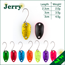 Jerry 1pc 2g 3.5g 4.5g fishing spoon lure mini two-side painting glossy color Japanese trout spoon(China)