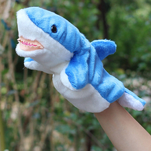 Shark Shape Plush Hand Puppet Baby Kids Child Developmental Soft Doll Plush Hand Puppet Toys Interative Game Toys