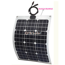 marine solar panel 30W with aluminum plate, rechargeable battery, power generator charging for 12V battery.