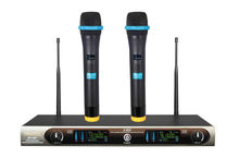 Wireless Microphone Handheld UHF Working with Audio Mic Amplifier Speaker for Karaoke BY-007(China)