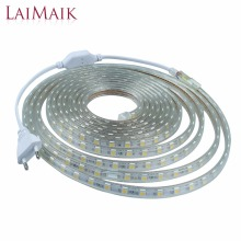 LAIMAIK LED Strip Light Waterproof Strip LED Light SMD5050 Led Tape AC220V Flexible Led Strip 60Leds/M Lighting with EU Plug