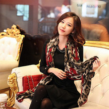 1 pcs Fashion Style Leopard Stylish Long Soft Silk Chiffon Scarf Wrap Stole Shawl Scarves For Ladies Hot sale
