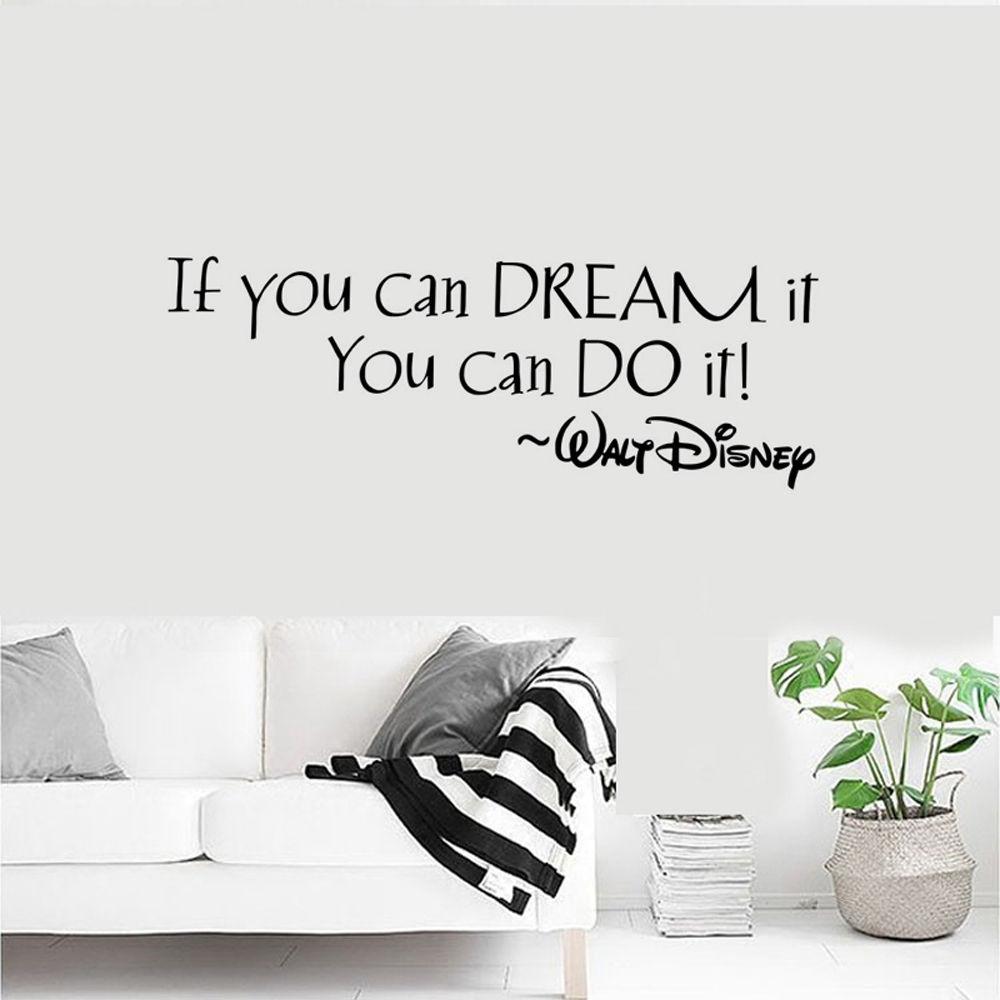 HTB1dVGSRVXXXXcKaXXXq6xXFXXXg If You Can Dream It You Can Do It Inspiring Quote Wall Stickers