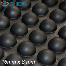 96 PCS 16*8mm Self Adhesive Black Anti Slip Silicone Rubber Cabinet Feet Pads, Round Furniture Bumper Pads, Shock Absorber