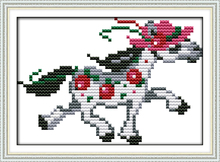 A running pony cross stitch kit cartoon 11ct count canvas stitches embroidery DIY handmade needlework plus(China)