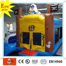 Free shipping !commercial happy hop pro pvc tarpaulin inflatable air bouncer castle with slide for sale(China)