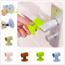 3Pcs After Wall Thickening Mute Door Fenders Sucker Rubber Fender Handle Door Lock Protective Pad Protection Wall Stick